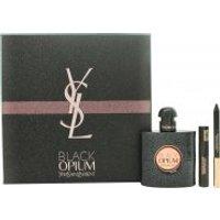Yves Saint Laurent Black Opium Gift Set 50ml EDP + 0.8g Eye Pencil + 2ml Mascara False Lash Effect