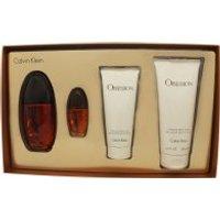 Calvin Klein Obsession Femme Gift Set 100ml EDP + 15ml EDP + 200ml Lotion + 100ml Shower Gel