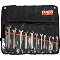 Chrome Polished Combination Spanner Set of 11 Metric 8 to 22mm