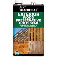 EXT Wood Preserver Gold Star Ebony 5 Litre