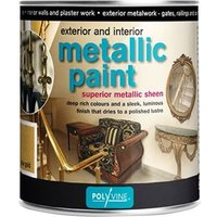 Exterior & Interior Metallic Paint Bright Gold 1 Litre