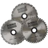Stationary Circular Saw Blade Set In Aluminium Case 216 x 30mm x 24/50T