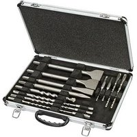 DT9670 SDS Plus Drill and Chisel Set In Aluminium Case 15 Piece