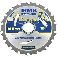 Weldtec Circular Saw Blade 165 x 30mm x 24T ATB