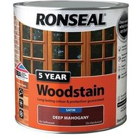 5 Year Woodstain Mahogany 2.5 Litre