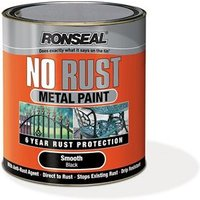 No Rust Metal Paint Smooth Black 2.5 Litre
