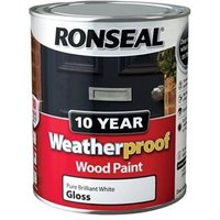 Weatherproof 10 Year Exterior Wood Paint Country Cotton Gloss 750ml