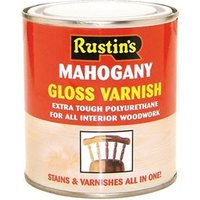Polyurethane Varnish & Stain Satin Mahogany 500ml
