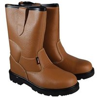 Texas Lined Tan Rigger Boots UK 12 Euro 47