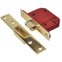 StrongBOLT 2100S BS 5 Lever Mortice Deadlock 81mm 3in Satin Brass Box