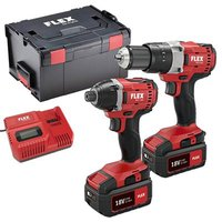FLEX 18v Twin Pack Drill and Impact Driver And Work Light (price whilst stocks last)