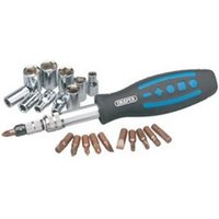 56784 31 Piece Socket and Bit Set with Flexible Shaft Driver