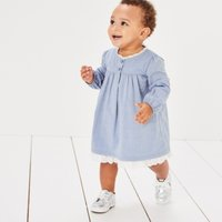 Broderie & Chambray Dress