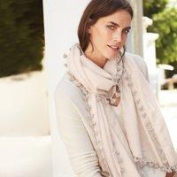 Cotton-Silk Tassel Scarf
