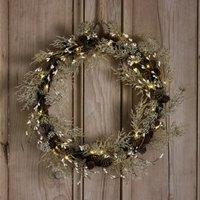 Pre-Lit Sparkle Wreath