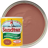 Sandtex Smooth Masonry Paint - Brick Red 5L