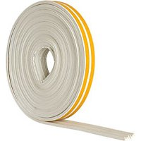 Wickes E Profile Rubber Draught Seal White 10m
