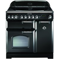 Rangemaster Classic Delux 90 Cooker Black & Chrome