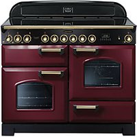 Rangemaster Classic Dx 110 Ceramic Cooker Cranberry & Brass