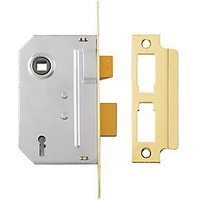 Yale P-M320-PB-65 3 Lever Sashlock 64mm Brass