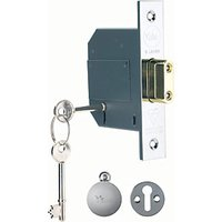 Yale P-M562-CH-80 5 British Standard Lever Deadlock 76mm Chrome