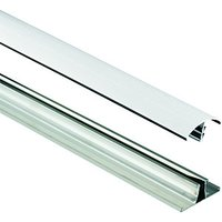 Wickes White Universal Glazing Bar for Polycarbonate Sheets 2500mm