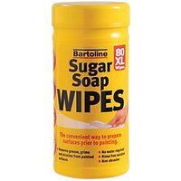 Bartoline Sugar Soap Wipes XL (80 Wipes)