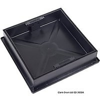 Clark-Drain Square to Round Recessed Manhole Cover & Frame 300mm