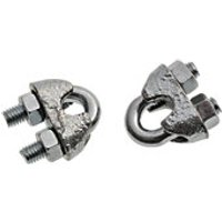Wickes Bright Zinc Plated Wire Rope Clamp 4mm Pack 2