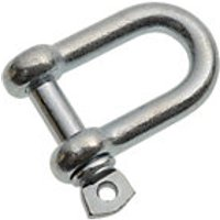 Wickes Bright Zinc Plated Dee Shackle 8mm Pack 2