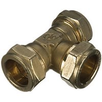 Wickes Compression Equal Tee 15mm Pack 5