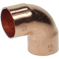Wickes End Feed Elbow 22mm Pack 5