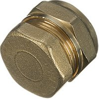 Wickes Compression Stop End 15mm Pack 2