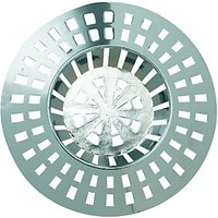 Wickes Basin Plastic Strainer Chrome Effect