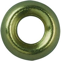 Wickes Brass Screw Cup Washers No.8 Pack 20