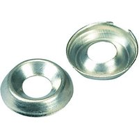Wickes Nickel Screw Cup Washers No.6 Pack 20