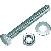 Wickes Hexagon Set Screws M8x60mm Pack 6