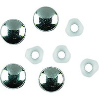 Wickes Chrome Plate Tops & Retain Washers Pack 4