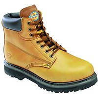Dickies Cleveland Safety Boots Tan Size 10