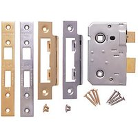 Era Bathroom CE Sashlock Brass/Chrome 64mm