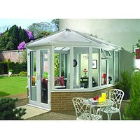 Wickes Victorian V7 Glass Roof Dwarf Wall White Conservatory - 12 x 16 ft