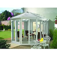 Wickes Victorian Conservatory V4 Full Height White 3752 x 2621mm