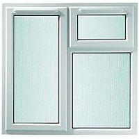 Wickes Upvc A Rated Casement Window White 1190 x 1010mm Lh Side Hung & Top Hung Obscure Glass