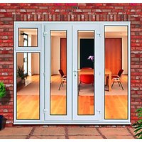 Wickes Upvc French Doors 8ft with 1 Sash 1 Side Panel 600mm