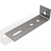 Wickes Galvanised Adjustable Angle Bracket 140x35x40mm