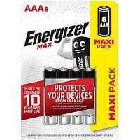 Energizer Max Alkaline Batteries AAa 8 Pack