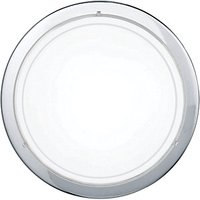 Eglo Planet 1 Chrome and Satinated Glass Small Wall and Ceiling Light - 60W E27