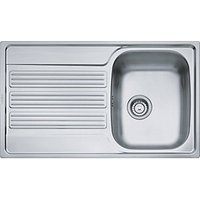Franke Galileo Single Bowl Kitchen Stainless Steel Sink & Drainer