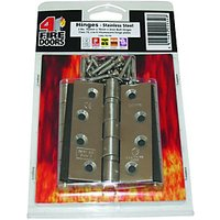 2 Ball Bearing Firestop Hinge 3 Pack