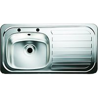 Wickes Single Bowl Kitchen Sink Stainless Steel Rh Drainer